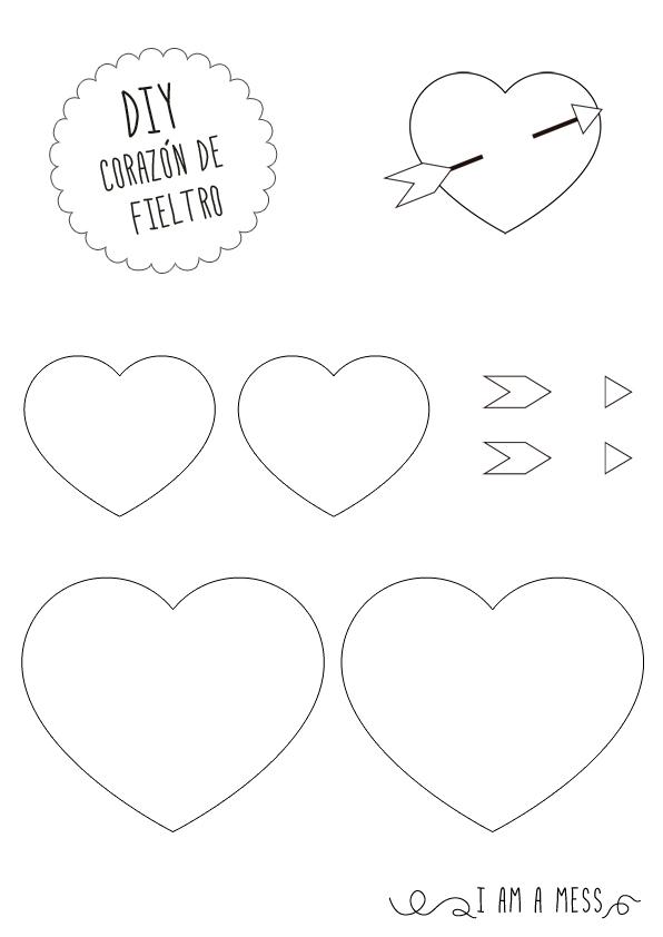 Corazón DIY mini con flecha de cupido para San Valentín