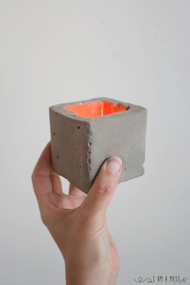 No mezclar cemento con prisa o c mo hacer un porta velas - Como mezclar cemento ...