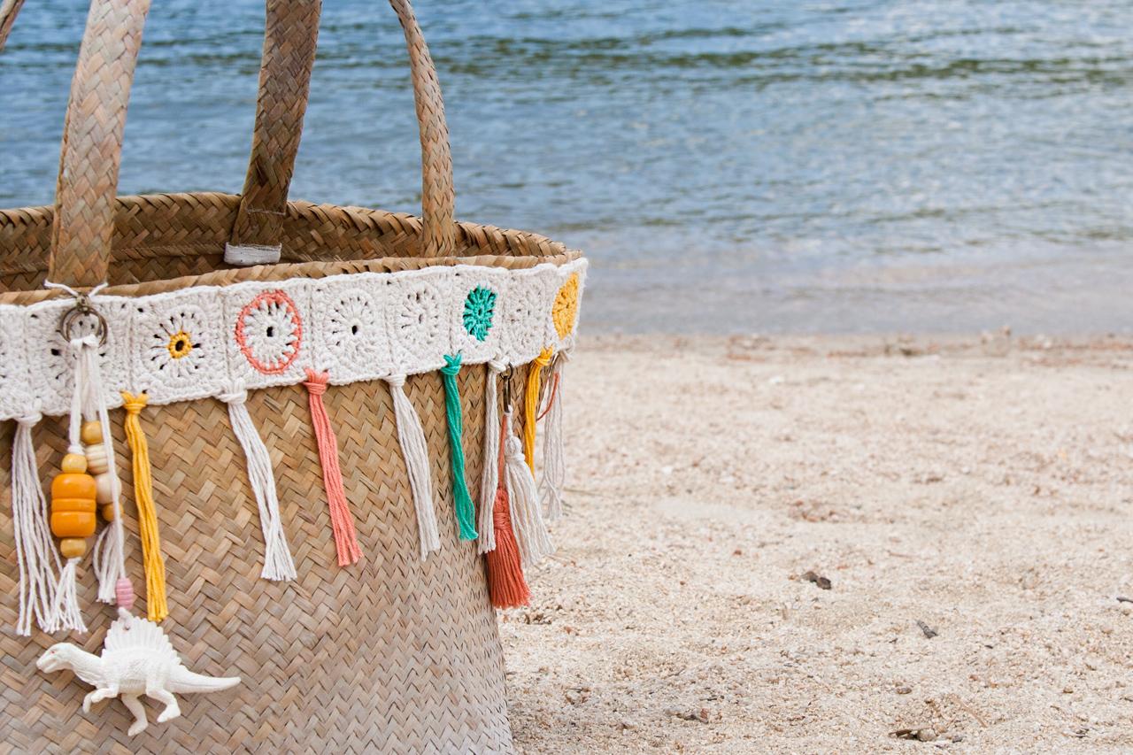 El reto pinterest capazo para la playa i am a mess blog - Capazo mimbre playa ...