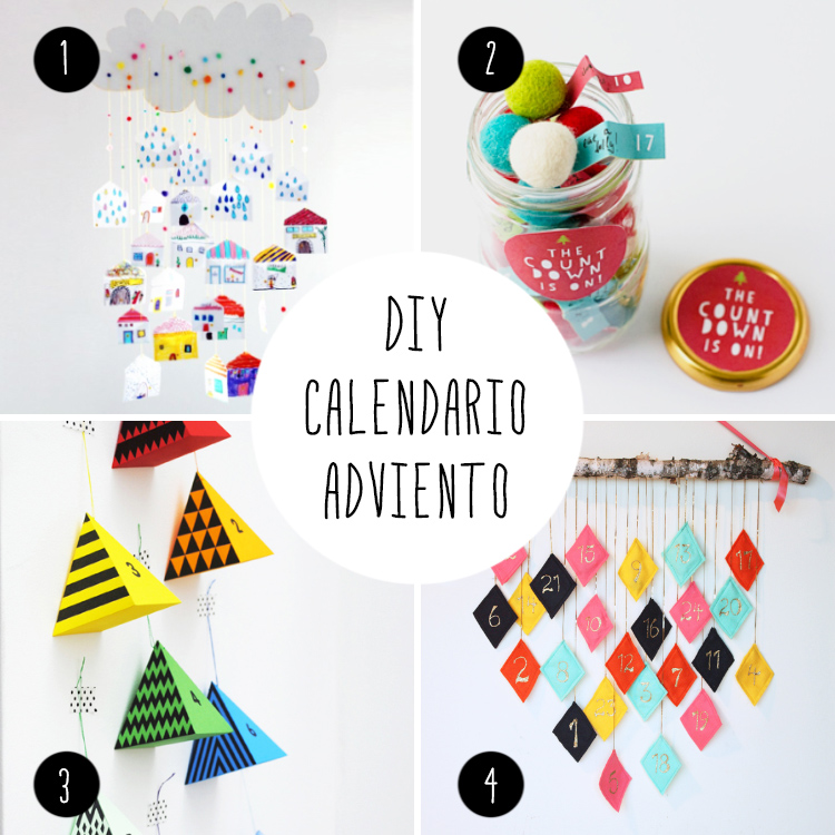 8 Ideas DIY, para hacer tu calendarios de adviento de colorines!