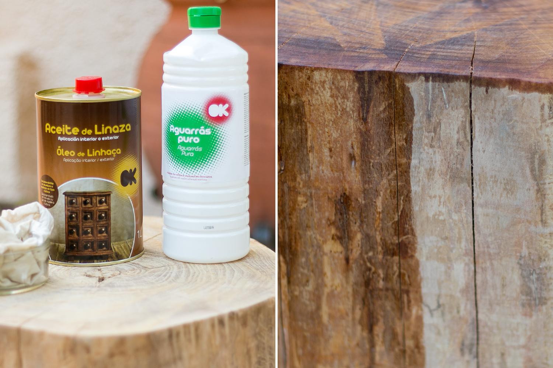 La naturaleza en casa c mo hacer una mesa con un tronco - Como hacer un ambientador natural para la casa ...